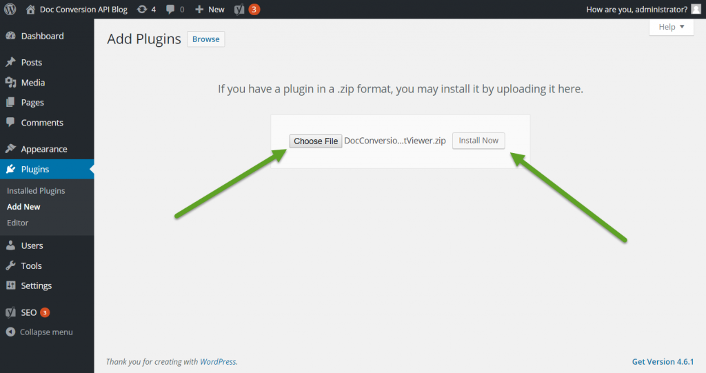 Step3 - Upload The Plugin And Click Install Now